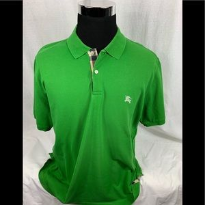 Green BURBERRY LONDON Polo Shirt Sz. XXL